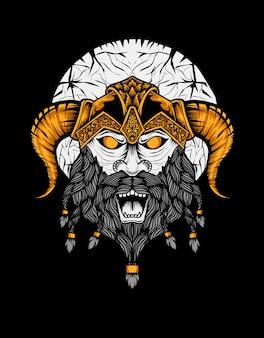Viking hoofd