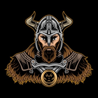 Viking illustratie op donker