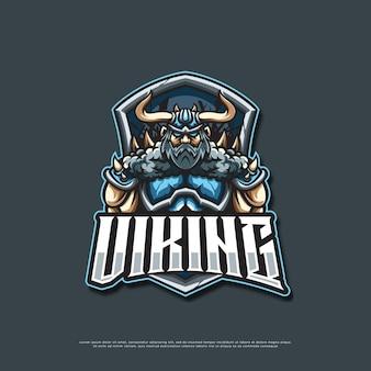 Viking logo mascotte ontwerp