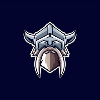 Viking logo ontwerp illustratie design