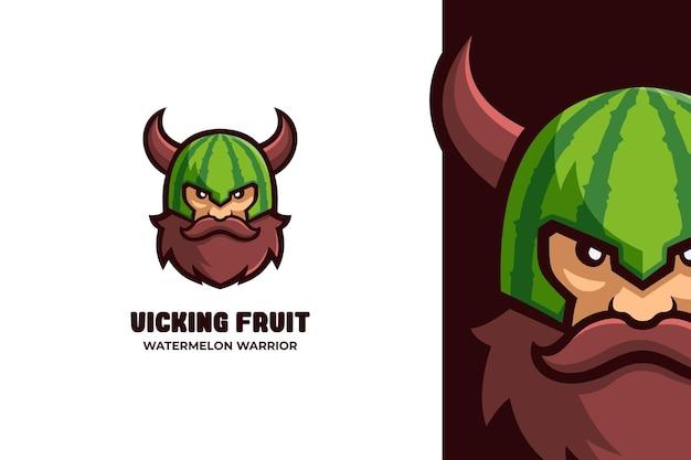 Viking man warrior e-sport mascotte logo
