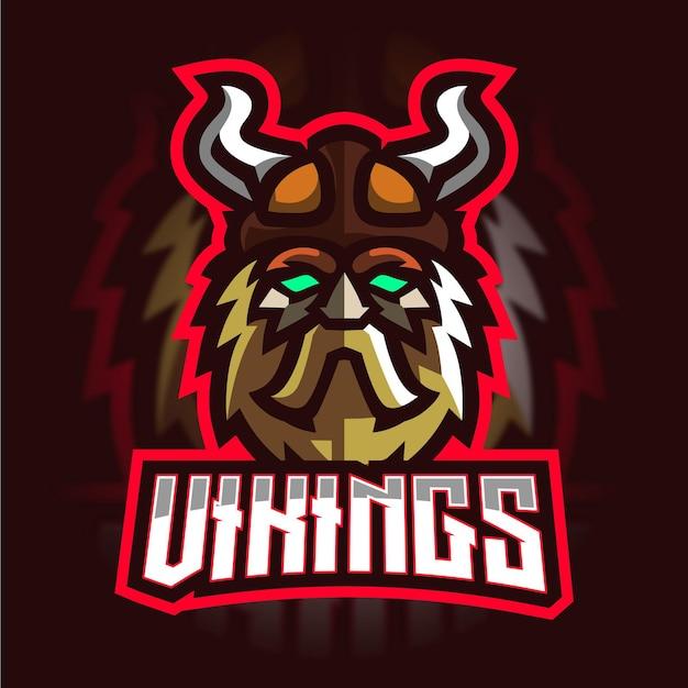 Viking mascotte gaming-logo