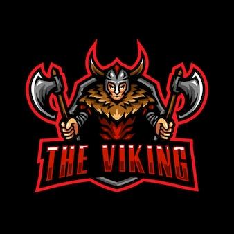 Viking mascotte logo esport gaming