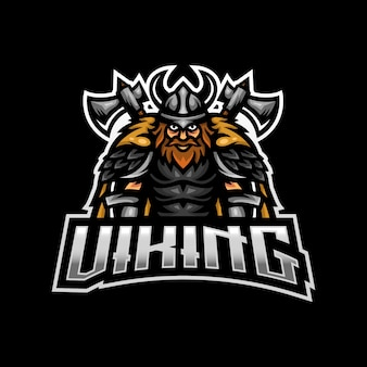 Viking mascotte logo esport gaming