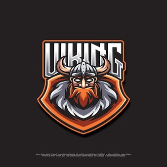 Viking mascotte logo ontwerp