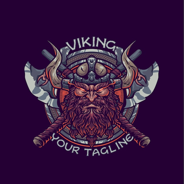 Viking mascotte logo sjabloon
