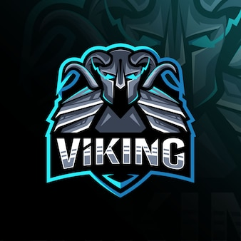 Viking mascotte logo sjabloonontwerp