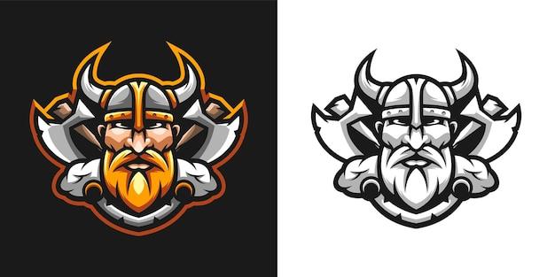 Viking mascotte ontwerp