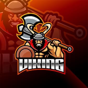 Viking norseman esport mascot-logo