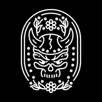 Viking skull lijn