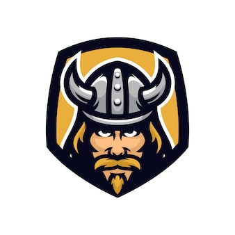 Viking vector mascotte pictogram illustratie