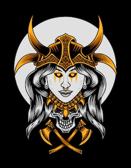Viking vrouw hoofd