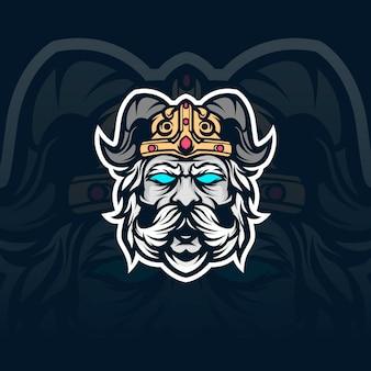 Viking zwaard mascotte illustratie