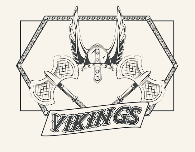 Vikingen krijgers afgedrukte t-shirt