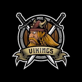 Vikingen mascotte logo ontwerp