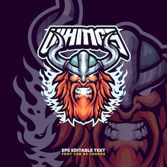 Vikingen mascotte logo sjabloon