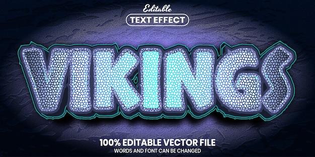 Vikings-tekst, bewerkbaar teksteffect in lettertypestijl