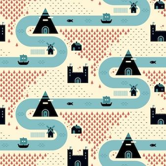 Village patroon ontwerp