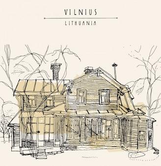 Vilnius achtergrond ontwerp