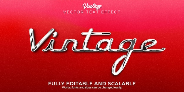 Vinatge auto-teksteffect, bewerkbare tekststijl uit de jaren 70 en 80