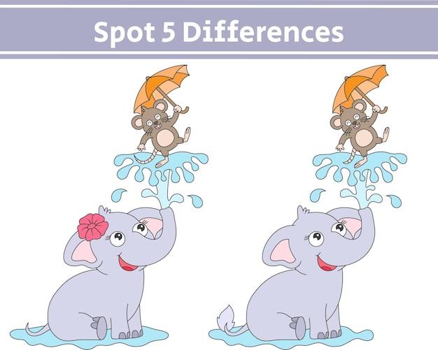 Vind 5 verschillen