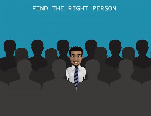 Vind de juiste persoon voor het functieconcept