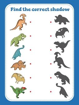 Vind de juiste schaduw. educatief spel voor kinderen