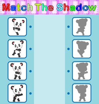 Vind de juiste schaduw van de panda