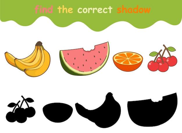 Vind de juiste schaduw van fruit