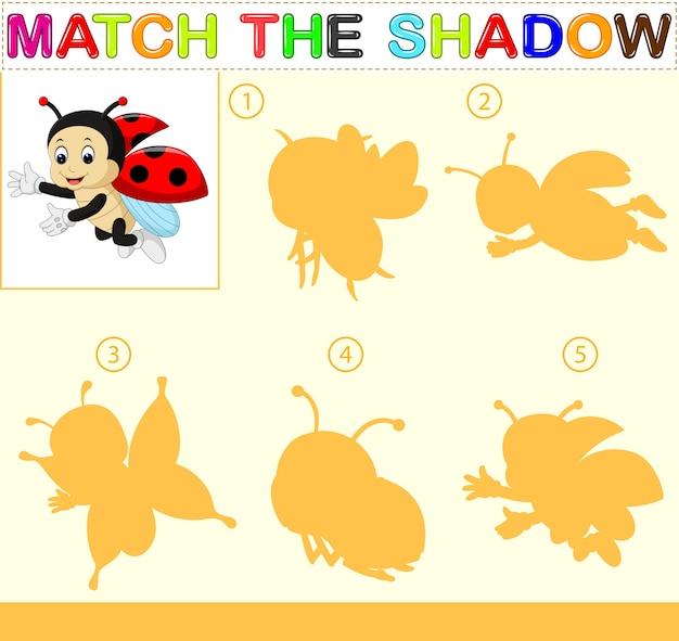 Vind de juiste schaduw van het lieveheersbeestje