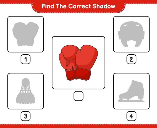 Vind de juiste schaduw vind en match de juiste schaduw van bokshandschoenen