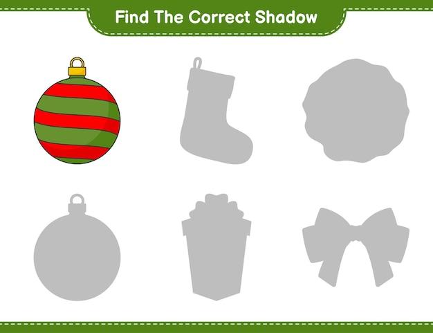 Vind de juiste schaduw vind en match de juiste schaduw van christmas ball
