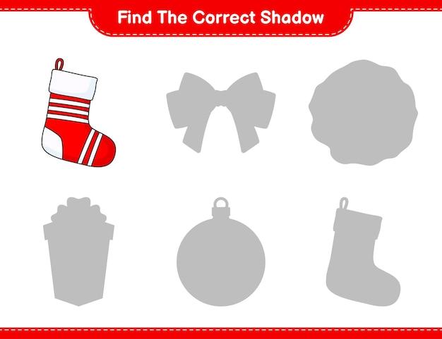 Vind de juiste schaduw vind en match de juiste schaduw van christmas sock