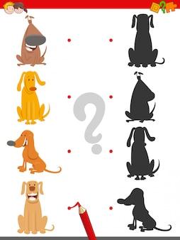 Vind de juiste shadow educational task met honden