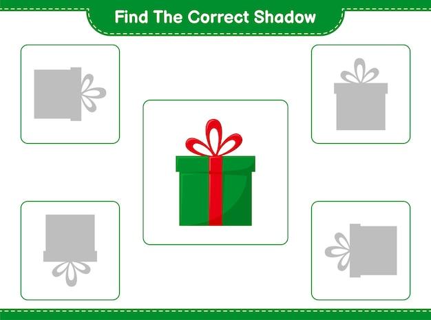 Vind en match de juiste schaduw van gift boxes