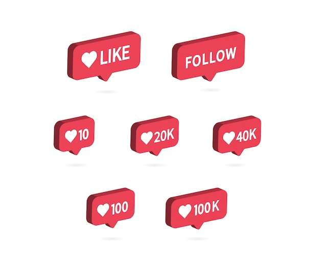 Vind ik leuk pictogram. social media notificatie pictogram.