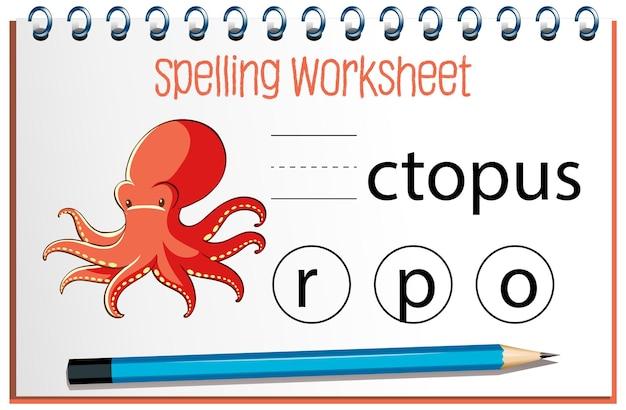Vind ontbrekende brief met octopus