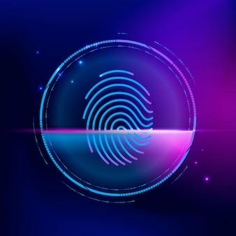 Vingerafdruk biometrische scan cyberbeveiligingstechnologie