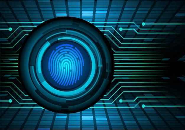 Vingerafdruk netwerk cyber beveiligingsachtergrond.