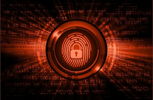 Vingerafdruk netwerk cyber security achtergrond.