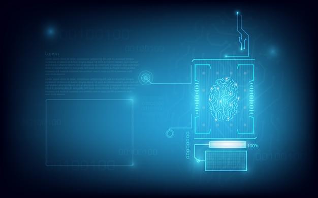 Vingerafdruk scannen technologie achtergrond