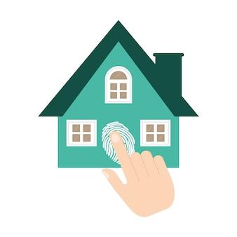 Vingerafdruk van het huisbeveiligingssysteem