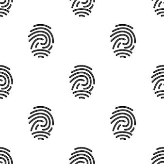 Vingerafdruk, vector naadloos patroon, bewerkbaar kan worden gebruikt voor webpagina-achtergronden, opvulpatronen