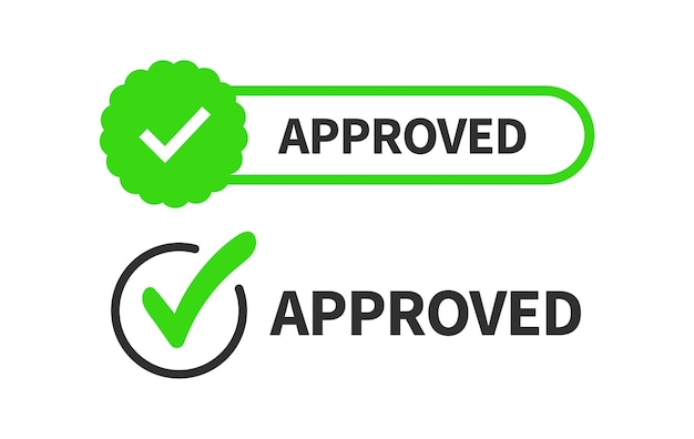 Vinkje of vinkje geïsoleerd op een witte achtergrond. teken - goedkeuring, acceptatie, juist, correct, positief antwoord.