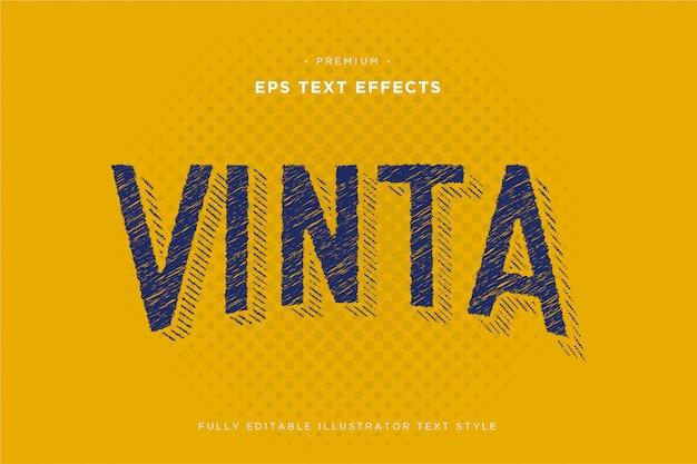 Vinta vintage teksteffect