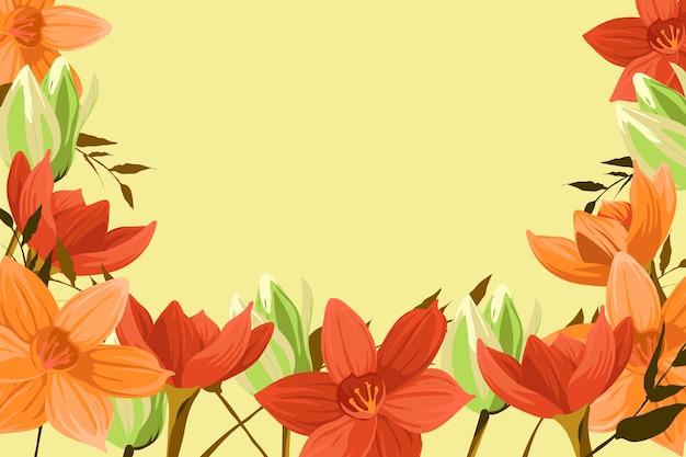 Vintage 2d bloemen achtergrond