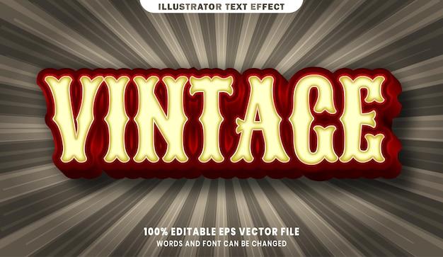 Vintage 3d bewerkbaar tekststijleffect