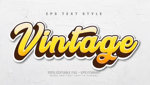 Vintage 3d bewerkbare teksteffecten
