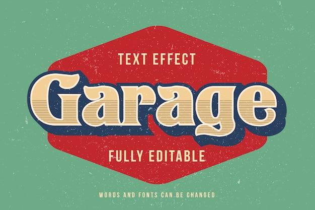 Vintage 3d-teksteffect bewerkbaar lettertype-effect