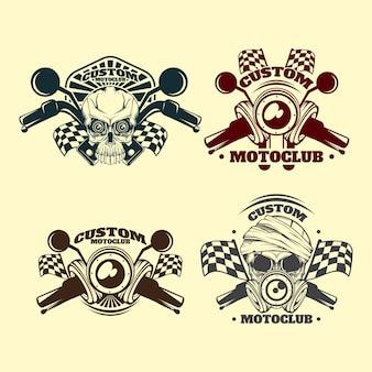 Vintage aangepaste motoclub embleem